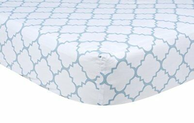 Trend Lab Blue Sky Quatrefoil Crib Sheet