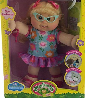 Cabbage Patch Kids Adoptimal Doll Blonde Glasses Floral