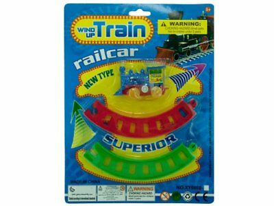 bulk buys Wind-up Train Set, Yellow/Green/Blue/Red, One
