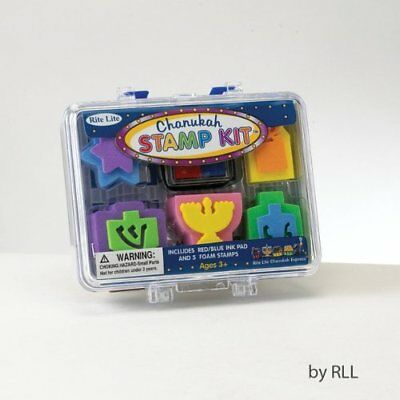 Chanukah Rubber Stamp Kit Craft for Children 5 stamps w