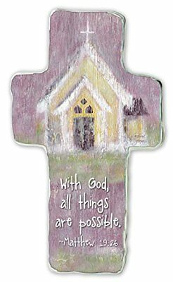 Cathedral Art SIM153 with God Artmetal Cross, 6-Inch