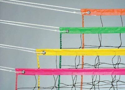 Champion Sports Vinyl Volleyball Nets, Neon Yellow, 32