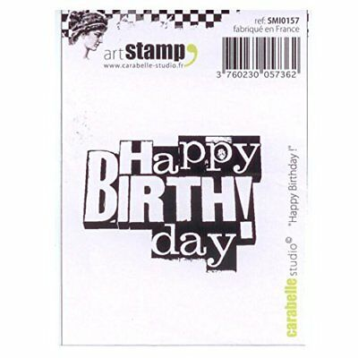 Carabelle Studio SMI0157 Pre-Cut Rubber Stamp - Happy B