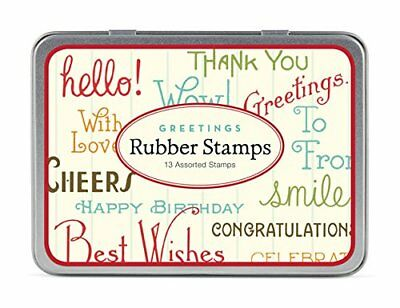 Cavallini Papers & Co Rubber Stamp Set Greetings, 13 As