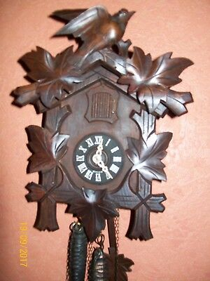 Vintage working Quality Black Forest Wall Mounted Cuckoo Clock Regula / Germany
