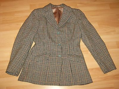 """vintage Tweed"" Show Jacket {10} Campbell's Of Beauly Satin Lined {Excellent}"