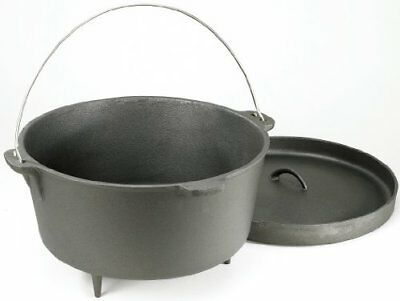 Stansport Non-Seasoned Cast Iron Dutch Oven with Legs (