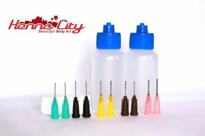 "1 oz Applicator bottles €"" Qty 2, 10 tips"