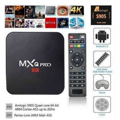 TV BOX MXQ PRO 4K Smart IPTV ANDROID 5.1 Penta Core 64bit WiFi 8GB MiniPC KODI