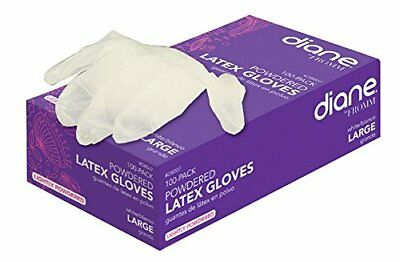 Diane Latex Powder Glove, Large, 100 Count