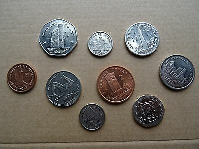 Isle of Man coins - 9 coin lot (1 penny- 50 pence) RARE modern coins of Europe