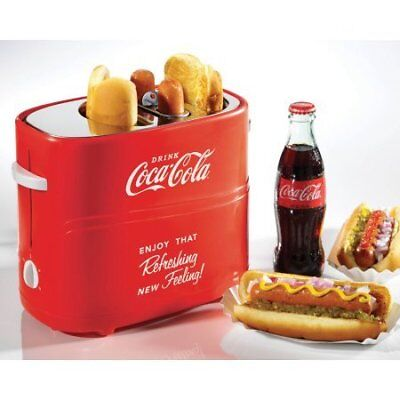 Nostalgia Coca-Cola Pop-Up Hot Dog Toaster with Mini To