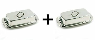 Norpro 282 Stainless Steel Double Covered Butter Dish,