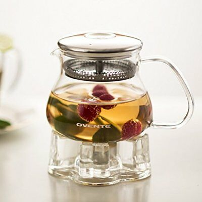 Ovente Glass Teapot, 27 oz, with Stainless Steel Mesh F