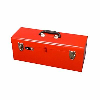 Excel TB139-Red 19-Inch Portable Steel Tool Box, Red by