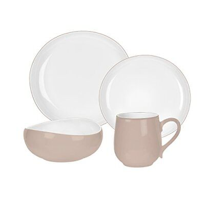 Portmeirion Ambiance 4 Piece Place Setting, Stone