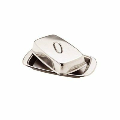1 X Stainless Steel Butter Dish with Lid