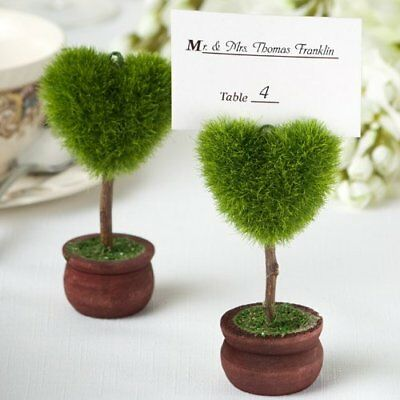Unique Heart Design Topiary Place Card Holder - 30 coun