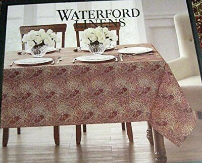 Waterford Linens Paisley Tablecloth/ Spice 100% Cotton