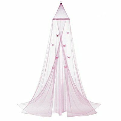 KOEHLER Home Decor Pink Butterfly Bed Canopy