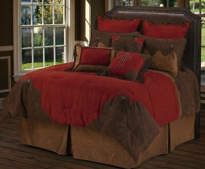 HiEnd Accents Red Rodeo Western Euro Sham