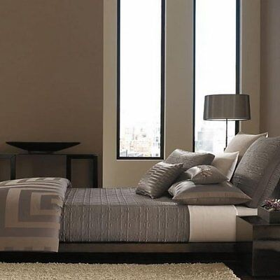 Hotel Collection Columns King Bedskirt Brown