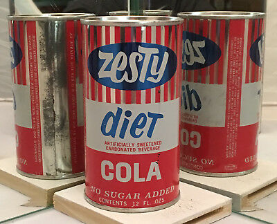 Extremely rare Zesty Diet Cola Soda Can - Pre-zip code!