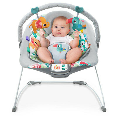 Bright Starts Toucan Tango Bouncer for Baby/Infant w/ Music/Vibration/Toy Bar