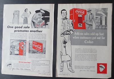 Vintage 1953 and 1954 Coca-Cola Canadian Trade Magazine Ads (2)