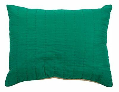 Rizzy Home Gracie Sham, King, Emerald Green