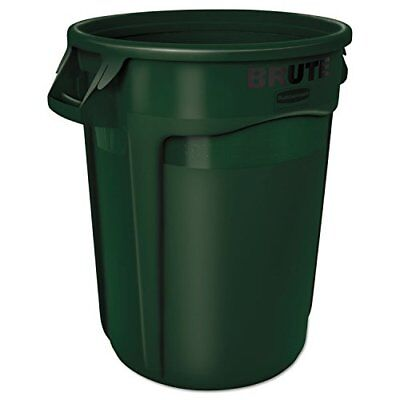 Rubbermaid Commercial Brute Refuse Container, Round, Pl
