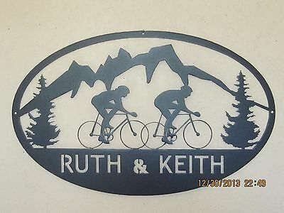 Road Bikes Your Names Wall Art Metal Art Plasma Art