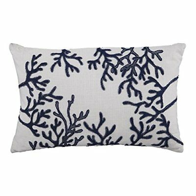 Rectangular Pillow in White and Blue