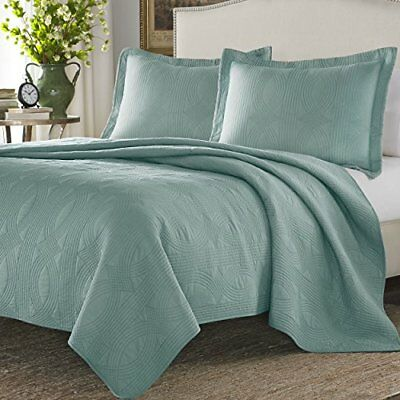 Stone Cottage Cotton Quilt Set, Twin, Mineral