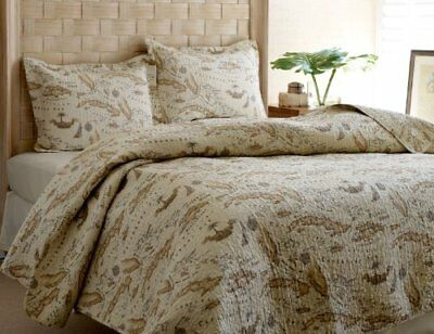 Tommy Bahama Map Quilt Set, Twin