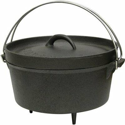 4qt Cast Iron Stansport Dutch Oven with Legs, Black