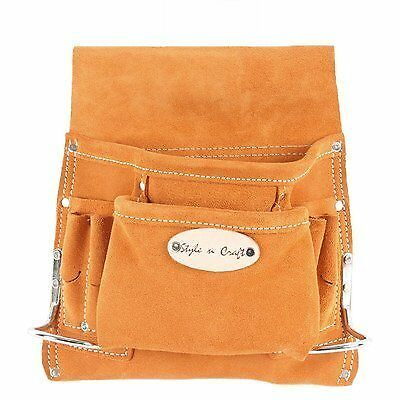 Style n Craft 91-8238 Pocket Suede Tool Pouch by Style