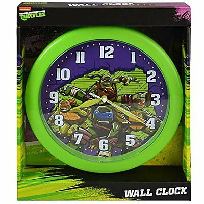 "TMNT 10"" Wall Clock in an Open Window Box"
