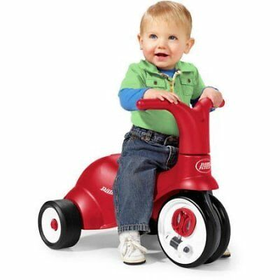 2-in-1 2 Pedal Scoot, Ergonomically Contoured Seat, Rid