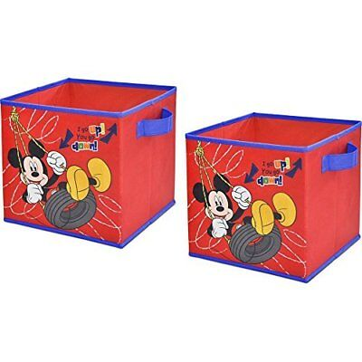 "10"" x 10"", 2-Pack Disney Mickey Mouse, Easy Storage Cub"