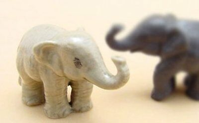 3 D Ceramic Toy Baby Young Elephant Dollhouse Miniature