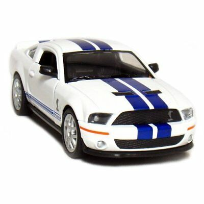 5 2007 Shelby GT500 1:38 Scale (White/Blue Stripes) by