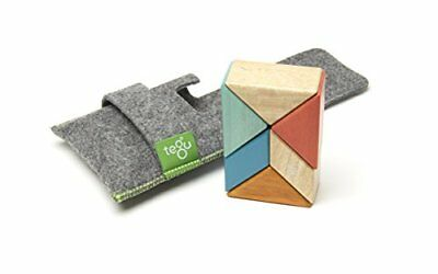 6 Piece Tegu Pocket Pouch Prism Magnetic Wooden Block S