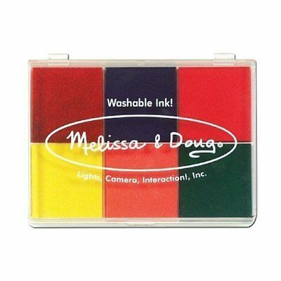 6-Washable Color Stamp Pad + FREE Melissa & Doug Scratc