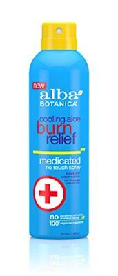 Alba Botanica Cooling Aloe Burn Relief Medicated No Tou