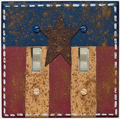 Americana Double Switch Plate Cover