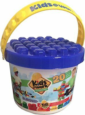 Amloid Kids at Work Bucket Set (20 Piece), Multicolor