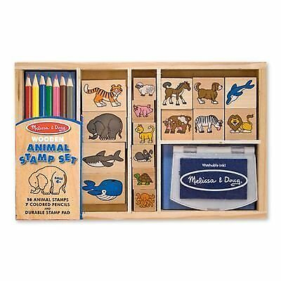 Animal: Wooden Stamp Set + FREE Melissa & Doug Scratch