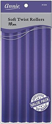 Annie Soft Twist Rollers, Purple, 10 Inch, 10 Count