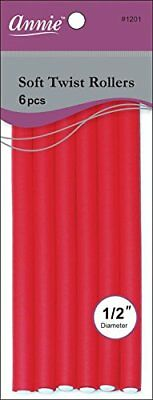 Annie 01201 Soft Twist Rollers, Red, 6 Count